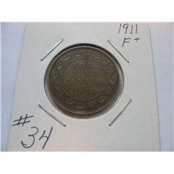 1911 Canadian Large Cent