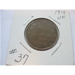 1914 Canadian Large Cent