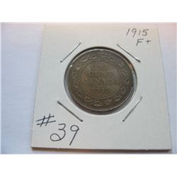 1915 Canadian Large Cent