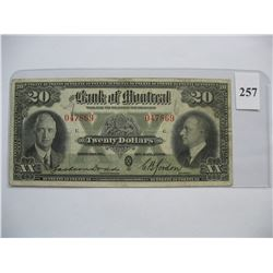 1935  $20.00 Bill  -  Bank of Montreal