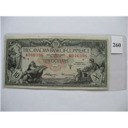 1935  $10.00 Bill - Canadian Bank of Commerce