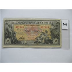 1935  $20.00 Bill - Canadian Bank of Commerce