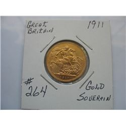 1911 Great Britain Gold Soverign