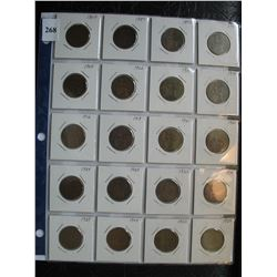 Great Britain Coins - 1/2 Pennies (1864-1959) - 20 Different Coins