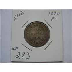 Newfoundland  -  1890  20 Cent Piece