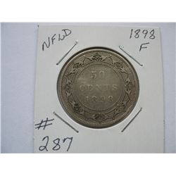Newfoundland  -  1898  50 Cent Piece