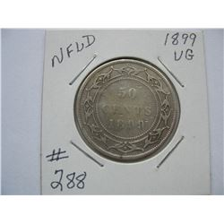 Newfoundland  -  1899  50 Cent Piece