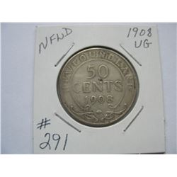 Newfoundland  -  1908  50 Cent Piece