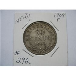 Newfoundland  -  1909  50 Cent Piece