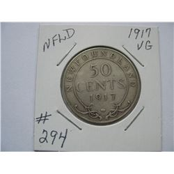 Newfoundland  -  1917  50 Cent Piece