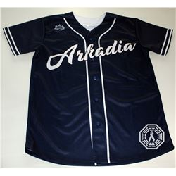 100, The - Arkadia (Griffin) Custom Baseball Jersey Signed by Eliza Taylor