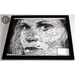 100, The - Clarke Custom String and Nail Art (Framed)