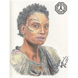 100, The - Indra Original Colored Pencil Sketch Signed by Adina Porter