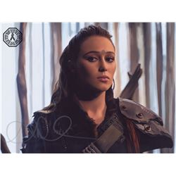 100, The - Lexa Custom Digital Painting Signed by Alycia Debnam-Carey