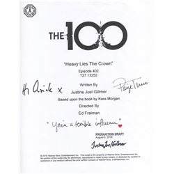 100, The - Season 4 Script Cover Signed by P. Turco, H.I. Cusick & Writer J. Gillmer