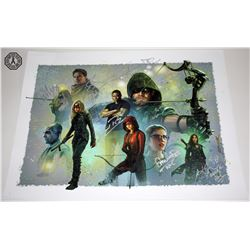 Arrow Character Montage Art Print Signed by 7 Cast