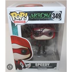 Arrow Speedy Funko Pop! Signed by Willa Holland