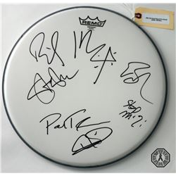 Billy Idol Band Drumhead Signed by 6 Band Members