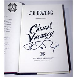 Casual Vacancy, The - Hardcover Book Signed by Author J.K. Rowling