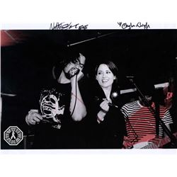 East of Eli Music Photo Signed by Chyler Leigh (Supergirl) & Nathan West