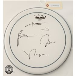 Fall Out Boy Drumhead Signed by 4 Band Members