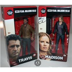 Fear the Walking Dead Madison & Travis Action Figure Set Signed by Kim Dickens
