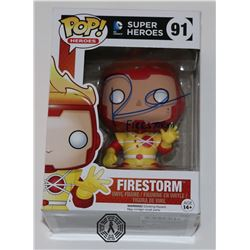 Flash, The - Firestorm Funko Pop! Signed by Robbie Amell (Rare/Vaulted)
