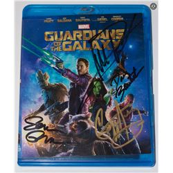Guardians Of The Galaxy Blu-ray Signed by Bautista, Gunn, Henry & Rooker
