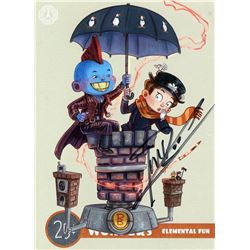 Guardians of the Galaxy Yondu Mary Poppins Mini Art Print Signed by M. Rooker