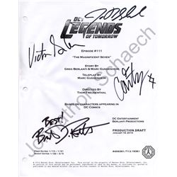 Legends of Tomorrow S1 Script Cover Signed by Garber, Lotz, Routh & Schaech