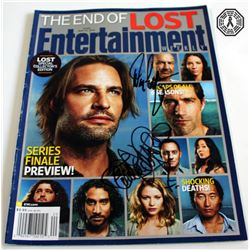 LOST EW Cover Story Signed by Emilie de Ravin & Damon Lindelof