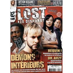 LOST Magazine Issue #3 (Rare French Ed.) Signed by J. Grillo-Marxuach & D. Lindelof