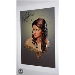 Once Upon a Time Belle Art Print Signed by Emilie de Ravin