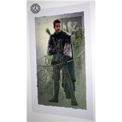 Once Upon a Time Robin Hood Art Print Signed by Sean Maguire