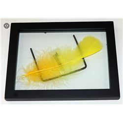 Sesame Street Authentic Big Bird Feather (Framed)