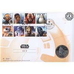 Star Wars BB8 Medal Coin and Stamp Set (Limited Edition)