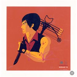 "Walking Dead, The - Daryl ""Crossbow'd"" Screen Print (Limited Ed.) Signed by N. Reedus"