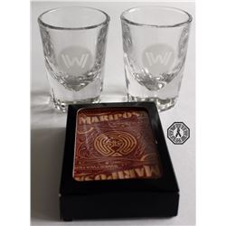 Westworld Shot Glass Set & Mariposa Playing Cards (Exclusive Cast/Crew Gift)