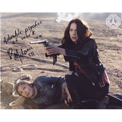 Wynonna Earp Earp Sisters Photo Signed by Melanie Scrofano