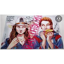 Wynonna Earp WayHaught ClexaCon Art Poster Signed by Andras, Barrell, Provost-Chalkley