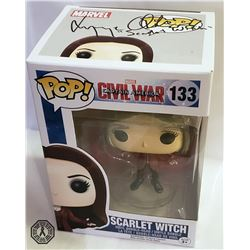 Captain America: Civil War Scarlet Witch Funko Pop! Signed by Elizabeth Olsen
