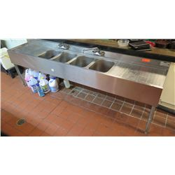 """Four Compartment Sink w/ Drainboards 8'L x 19.5""""D x 32""""H"""