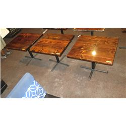 """3 Square Wooden Tables 36"""" X 33"""""""