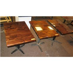 """3 Square Wooden Tables 34"""" X 24"""""""