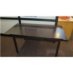 """Wood Table w/ Slide-Out Leaves 55"""" X 35"""" (6'11 L w/ Leaves Extended)"""