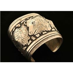 Three Bear Sterling Silver Cuff by Tommy Singer