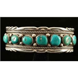 Sterling & Sleeping Beauty Turquoise Bracelet
