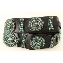 Gorgeous Zuni Turquoise Needlepoint Concho Belt