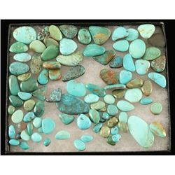 Over 500 Carats Assorted Turquoise Cabs