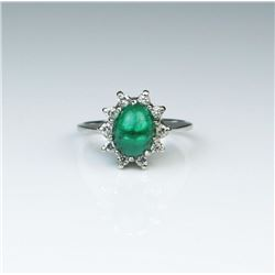 Elegant Colombian Emerald Estate Ring